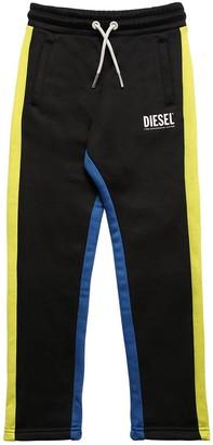 Diesel Logo Cotton Blend Sweatpants