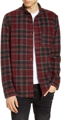 BP Plaid Button-Down Knit Flannel Shirt