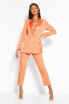 boohoo Satin Panel Tailored Trouser
