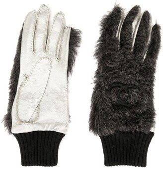 Chanel Pre Owned CC logos gloves