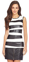 Vince Camuto Tiered Faux-Leather Tank Top