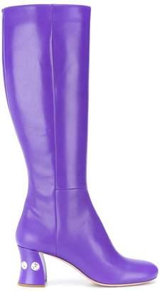 Miu Miu embellished heel 65 boots