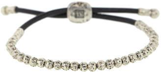 John Varvatos Sterling Silver and Leather Bead Bracelet