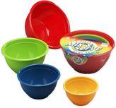 4-Piece Multicolor Mix & Serve Bowl Set