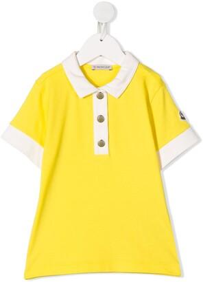 Moncler Enfant Colour Block Polo Shirt
