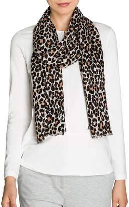 Olsen Golden Glam Animal-Print Scarf