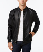 American Rag Men's Faux Leather Bomber Jacket, Only at Macy's