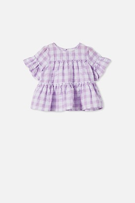 Cotton On Frede Short Sleeve Frill Top