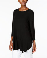 Eileen Fisher Silk Jersey High-Low Top