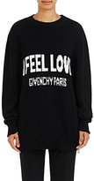 """Givenchy Women's """"I Feel Love"""" Cotton Oversized Sweater-BLACK"""