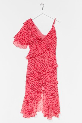 Nasty Gal Womens Swinging on the Dancefloor Floral Midi Dress - Pink - 4