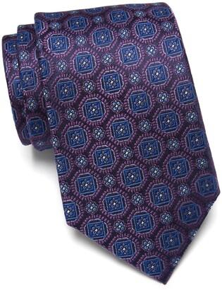Nordstrom Winant Floral Medallion Extra Long Silk Tie