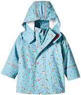 Sterntaler Baby Girls Raincoat - Turquoise