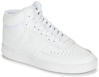 Nike COURT VISION MID women's Shoes (Trainers) in White