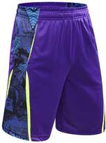 1Bests Men's Athletic Loose Breathable Quick-drying Basketball Shorts with Pockets (L, )