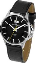 Jacques Lemans Sydney 1-1540A 42mm Stainless Steel Case Calfskin Mineral Men's Watch