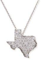 Roberto Coin 18k White Gold Diamond Texas Necklace