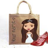 Hurley Sarah Hand Painted Personalised Wedding Dollybelles Tote Bag