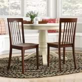 Sunnydale Solid Wood Slat Back Side Chair Alcott Hill Side Chair Finish: Mahogany