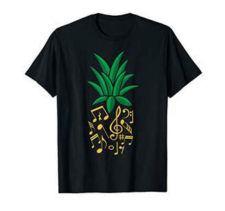 Pineapple Music Notes Funny Piano Guitar Recorder Violin T-Shirt
