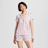 Women's Sleepwear Fluid Knit Short Sleeve Pajama Set Pink Print - Gilligan & O'Malley