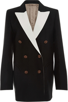 Blaz Milano Mid-Day Sun Double Breasted Contrast Lapel Blazer