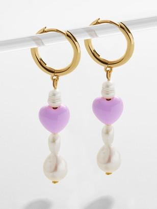 BaubleBar Viola Pearl Drop Earrings