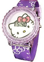 SANRIO Hello Kitty Girl's Digital Light Up Watch HK4002 (purple)