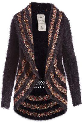 Vintage Concept Women's Non-Denim Casual Jackets BLACK - Brown Contrast Vest - Women