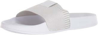 Puma Men's Leadcat Knit Slide Sandal White White-Gray Violet 5 M US