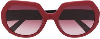 Longchamp Geometric Frame Sunglasses