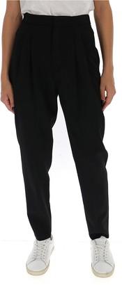 Saint Laurent Pleated High-Rise Pants