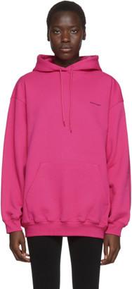 Balenciaga Pink Copyright Logo Hoodie