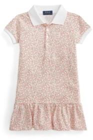 Polo Ralph Lauren Toddler Girls Floral Stretch Mesh Polo Dress