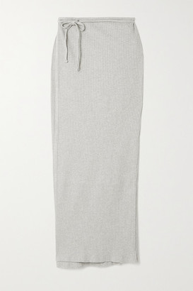 Base Range + Net Sustain Brig Ribbed Organic Cotton Wrap Skirt - Beige