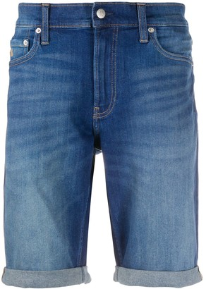 Calvin Klein Jeans High-Rise Denim Shorts