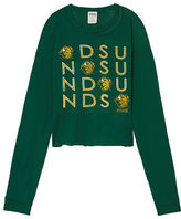 PINK North Dakota State University Long Sleeve Campus Cutout Tee