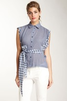 L.A.M.B. Wrap Around Mix Media Shirt
