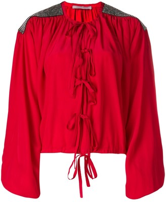 Christopher Kane Crystal Bow Blouse