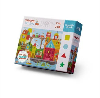 Crocodile Creek 24pc Early Learning Puzzle - Shape Town