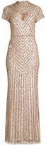 Thumbnail for your product : Aidan Mattox Beaded Cutout Gown