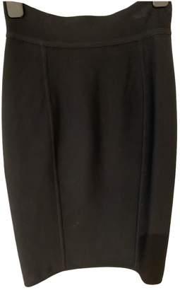 Herve Leger Black Cotton - elasthane Skirt for Women Vintage