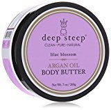 Deep Steep Argan Oil Body Butter, Lilac Blossom, 7 Ounce