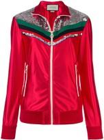 Gucci zipped stripe detail jacket