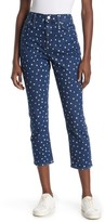Madewell High Rise Slim Crop Polka Dot Jeans