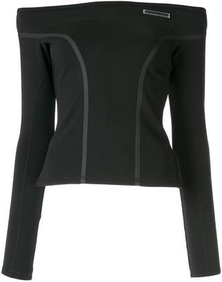 Christian Dada off the shoulder taped blouse