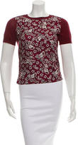 Marc Jacobs Silk-Trimmed Knit Top