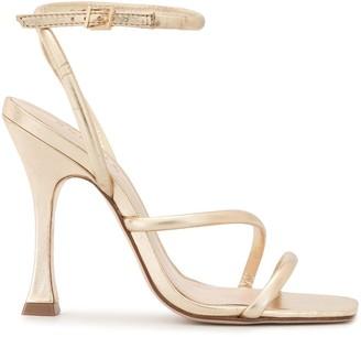 Schutz Metallic 100mm Sandals