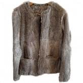 Suncoo Grey Rabbit Jacket for Women