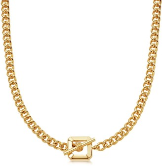 Missoma Lucy Williams Gold T Bar Chain Necklace